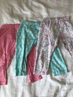 Mothercare Set of 3 leggings