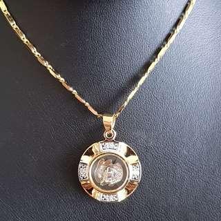 Chinese Rabbit zodiac lucky charm pendant (时来运转生肖) Gold & Silver Mix