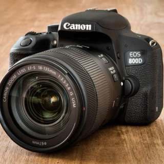 Canon EOS 800D EF-S 18-135mm f/4-5.6 IS STM Lens