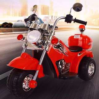 Red Harley Davidson Design Kids Motorcycle Rechargeable Big Bike Toy
