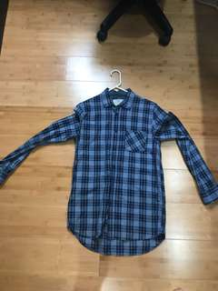Cotton on flannel blue XS