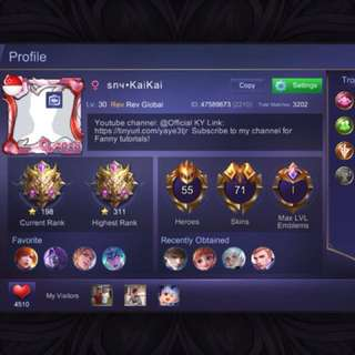 Mobile Legends Account (MG)