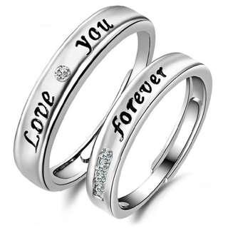 韩版气质指环饰品LOVE爱戒指对戒男女情侣款开口戒指 送女友礼物