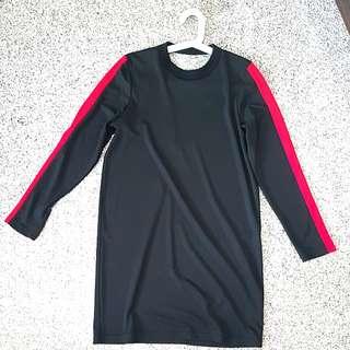 Asos Sporty dress V necked Red Stripes