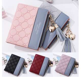 Embossed PU Leather Wallet Purse with Coin Pocket