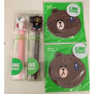 LINE Character Pen (Cony , Brown)