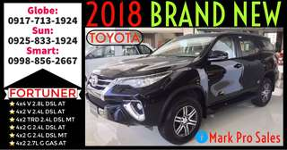 2018 All New Toyota Fortuner V G MT and AT
