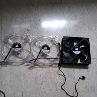 Corsair CPU case fans set of 3 orange LED