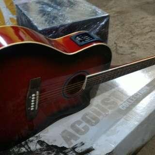 Gitar akustik elektrik cowboy tuner