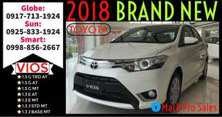 28k Lowest All In Down Toyota 2018 Vios E AT and MT