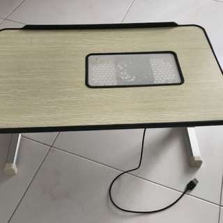 Portable Laptop coffee table with USB fan