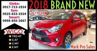 38k Only All In Lowest DP 2018 Toyota Wigo TRD G and E MT