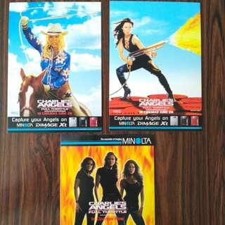 Charlie Angels - 3 x postcards (Konica Minolta)