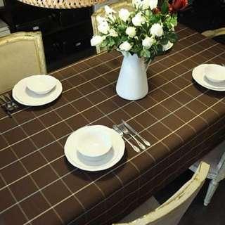 Tablecloth (Brown Checkered European style)