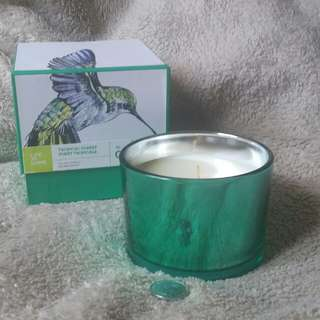 Scented Candle in a Green Glass