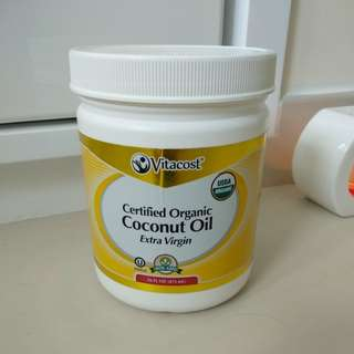 Vitacost Certified Organic Coconut Oil Extra Virgin 椰子油