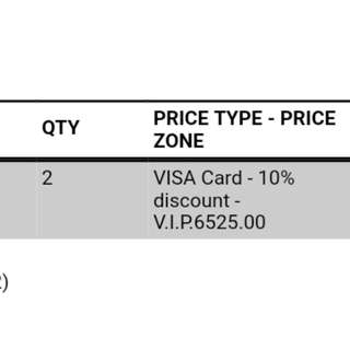 2 tickets for sale for the Lion King Musical Manila