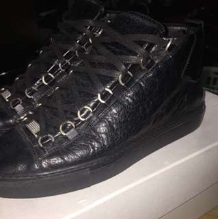 Black Balenciaga shoes