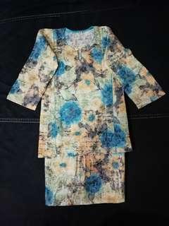 Toddler Floral Baju Kurung