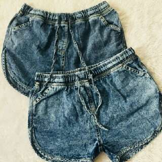 dolphin denim shorts XL size