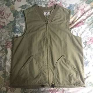 Armani Exchange army green vest