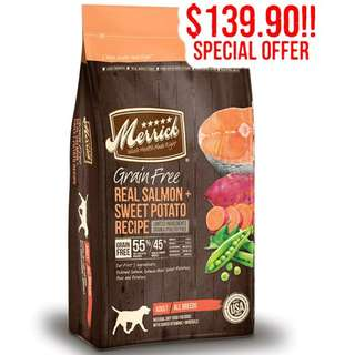 Merrick Grain Free Dog Dry Food 25lb ( Free FAST delivery )