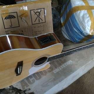 Gitar acccustik elektrik jumbo new