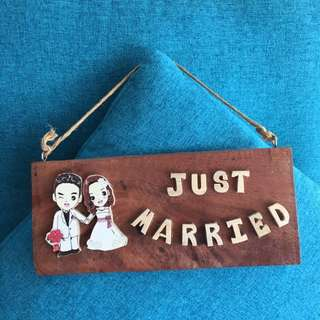 Just married signage deco