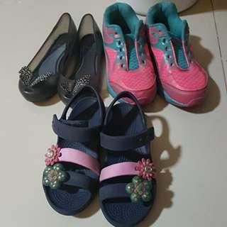Bundle Melissa Crocs bubblegummers Girls Shoes