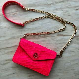 ✨Tory Burch pink chain bag 95% new!✨
