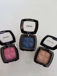 3 nyx single eyeshadows