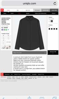 Uniqlo Cotton Strech in Black