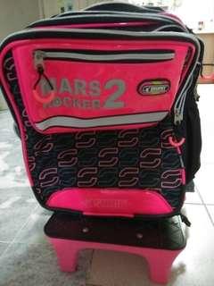 Preloved Swan Trolley School Bag ❤️