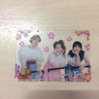 Twice transparent photocard
