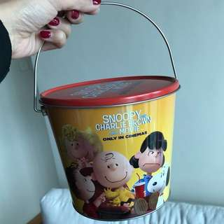 Snoopy and Charlie Brown the Peanuts Movie 🍿 Popcorns Tin