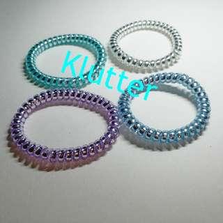 Klutter $5 - 4 Pcs Thin Cord Hair Tie Bands Head Accessories Girls Ladies