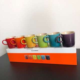 Le Creuset Rainbow 6 Expresso mugs