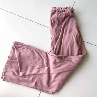 DUSTY PINK STRETCHABLE COMFY PANTS