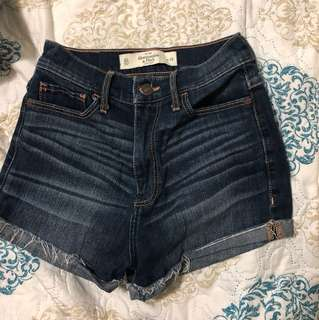 Abercrombie high waisted shorts size 24