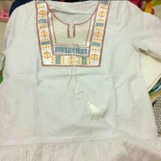 White blouse boho