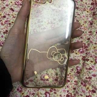 包郵IPhone 7plus/8plus 電話套HelloKitty圖案