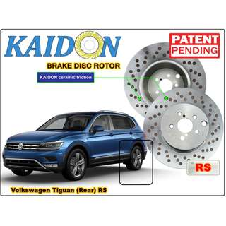 "Volkswagen Tiguan brake disc rotor KAIDON (REAR) type ""RS"" / ""BS"" spec"