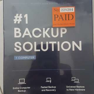 ACRONIS - Back Up Solution