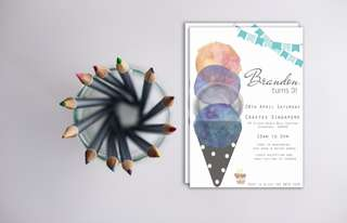 Birthday parties and celebrations stationery invite cards and print