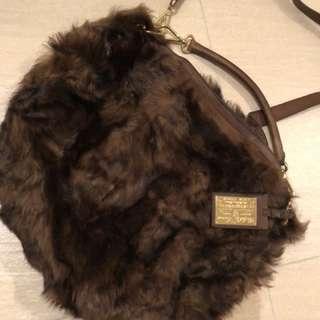 RL real fur handbag