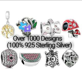 Over 1000 Designs (925 Sterling Silver Charms) To Choose From, Compatible With Pandora, T15