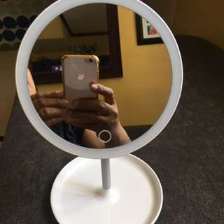 mirror with LED light