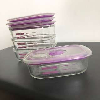 Decor thermoglass containers - 250ml x 4