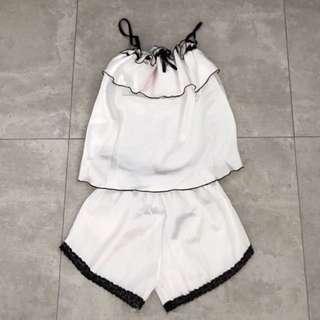🆕 White Satin Sleepwear