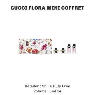 Gucci flora mini coffret